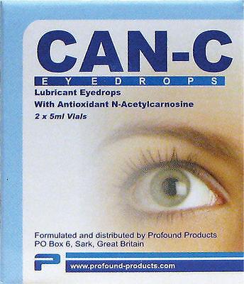 Can-C EyeDrops 10ml 2 x 5ml Vials reverse senile cataracts Antioxidant