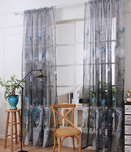 Bicycle decor curtains