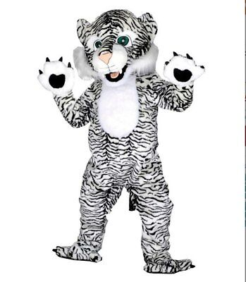 2019 Black White Tiger Mascot Costumes Suit Adult Outfit Cosplay Christmas Dress](White Tiger Costumes)