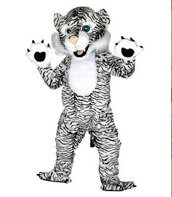 Black & White Tiger Mascot Costume For Adults Halloween Outfit Fancy Dress Party](White Tiger Costumes)
