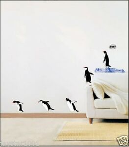 Penguin-Home-Bathroom-Removable-Mural-Wall-Stickers