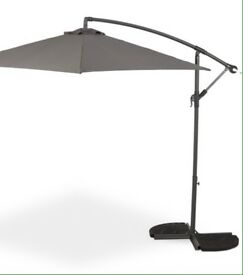Cantilever grey parasol 3meter FYVIE area