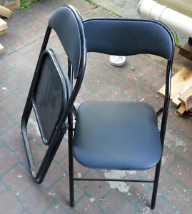 folding chairs - steel frame. Charlestown Lake Macquarie Area Preview