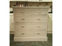 White antique chest of drawers ( free local delivery)
