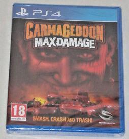 SONY PLAYSTATION PS4 GAME CARMAGEDDON MAX DAMAGE SMASH,CRASH & TRASH 3D LENTICUL