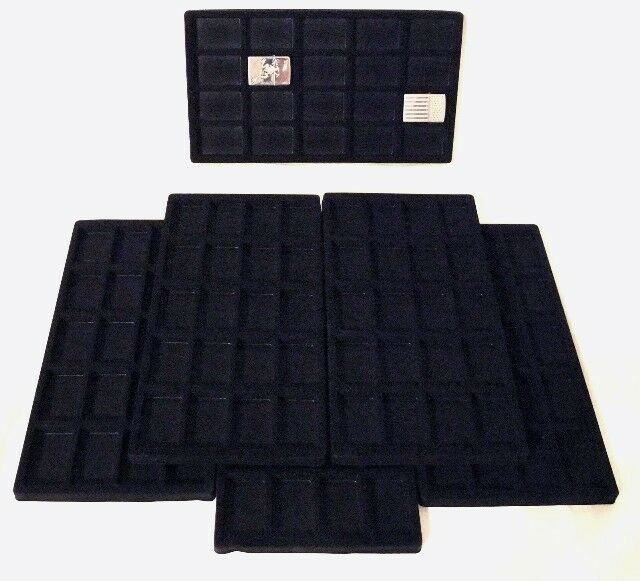 LOT OF 6  FLOCKED 20 COMPARTMENT INSERT 14 X 7 1/2