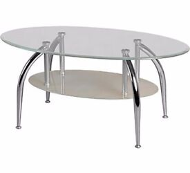 NEW Glass Coffee Table Clear Glass By Seconique