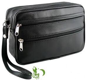 Herren Echt Leder Handgelenktasche Herrentasche Hand Tasche Bag hlf26