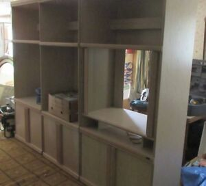 3 Piece Wall / TV  Unit with light and Glass doors