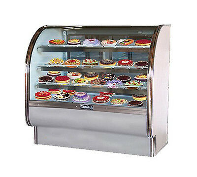 Leader Cvk48 48x35x50-inch Refrigerated Bakery Display Case Curved Glass Etl