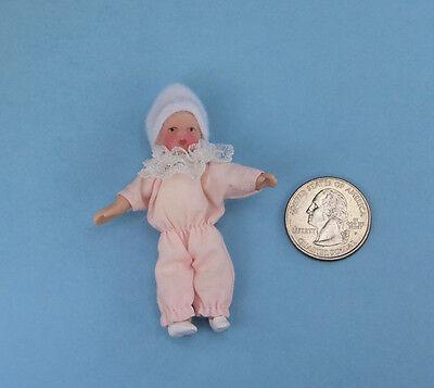 1/12 Scale Dollhouse Miniature Porcelain Baby Girl Doll #WCPD88A