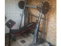 Squat Stands, Maxi muscle bench, olympic bar x2 20kg weights