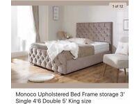Monaco Upholstered Bed Frame