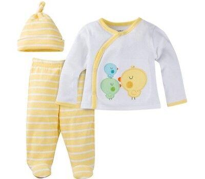 Gerber Baby Newborn Take Me Home 3 Piece Layette Unisex Gift Set Baby Shower Nwt