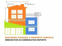 Immigration accommodation reports Derby and surrounding areas.