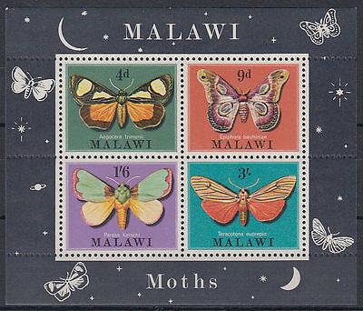 Malawi 1970 ** Mi.Bl.19 Insekten insects Schmetterlinge butterflies [st3290]