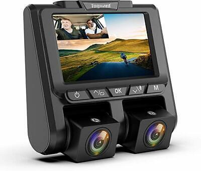 TOGUARD Uber Dual Dash Cam FHD 1080P+1080P Car Camera 340° Dashboard DVR Camera