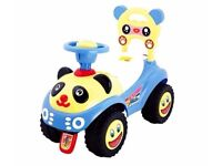 Foot to floor vehicle for children - Panda design - kids toy in four colours!