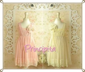 GIRLS-Boutique-Vintage-Special-Occasion-Chiffon-Lace-Pink-or-Ivory-Dress
