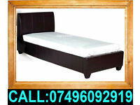 Brand New Single Double King Size Small Double Leather Bed With Mattress