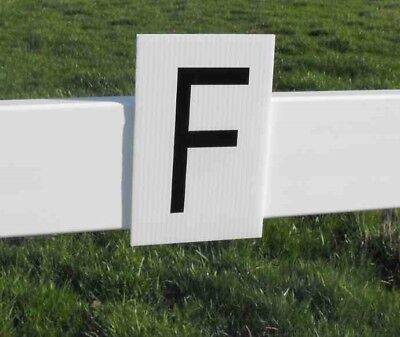 Dressage Arena Letters, set of 12,  Rigid placard, all weather,  durable, sturdy