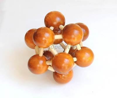 Wooden Sculpture Organic Chemistry Molecular Atom Model Puzzle Molecules   Links