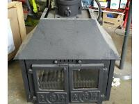 Old style wood burning stove