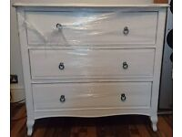 beautiful white Lily Bensons for beds 3 drawer french style chest on legs