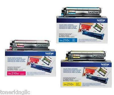 3 Color Genuine Brother Tn210c Tn210m Tn210y Toner Hl3040...