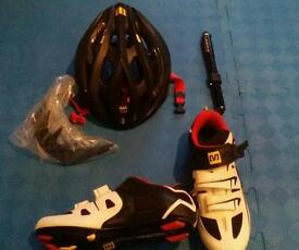 New Mavic Helmet, New Mavic shoes and New Lezyne pump