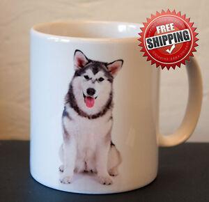 Fine-Ceramic-China-Animal-Dog-Malamute-Husky-Mug