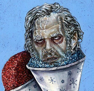 "2.5"" Johnny Frozen Horror Movie Snow Cone Cult Punk Cool Street Art Sticker (Street Cones)"