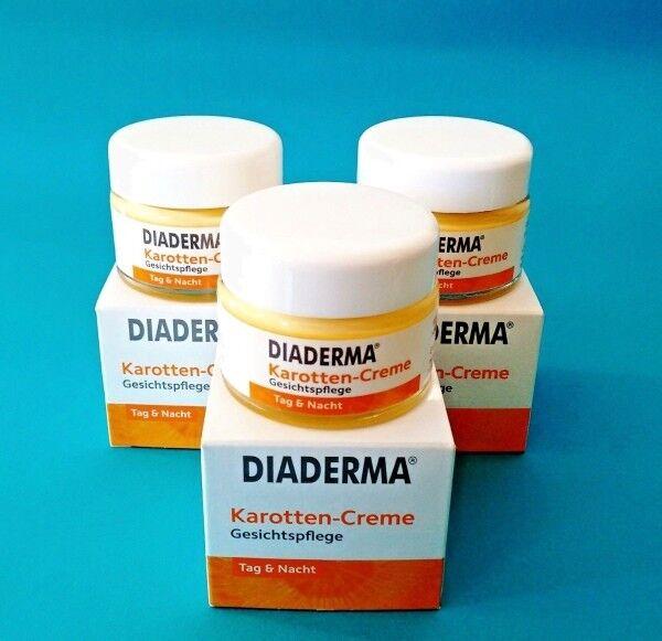 DIADERMA Karotten - Creme  Gesichtspflege Tag & Nacht   3 x 50 ml
