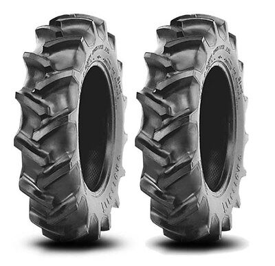 2 New 13.6-28 Crop Max Rear Tires Massey Ferguson Farm Tractor Free Shipping