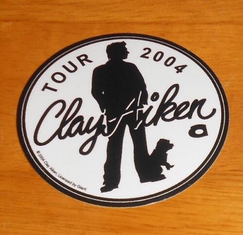 "Clay Aiken Tour 2004 Sticker Original Promo (circle)  3"""