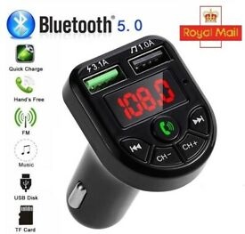Wireless Bluetooth Car FM Transmitter MP3 Player 2 USB Charger Handsfree (NEW)