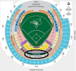Blue Jays Tickets May to August TD CLUBHOUSE SEATS