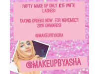 Make up artist! Party makeovers just £15 (with lashes) ALSO TAKING BOOKINGS NOW FOR 2017!