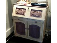 Shabby chic bereau and side cabinet