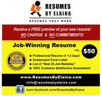 ♦♦♦ #1 Resume Company in Town: 100% Satisfaction Guaranteed ♦♦♦