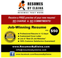 ►►► Highly Reputable Resume Company ~ 100% Service Guaranteed