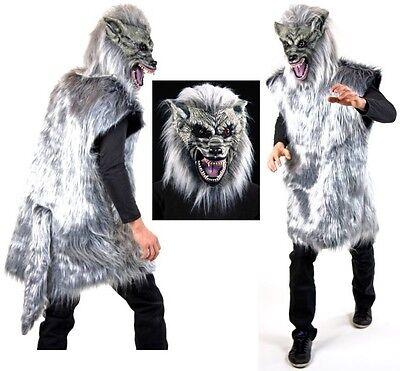 maske Werwolf Fasching Karneval Halloween Gruselkostüm Böser (Halloween Gruselige Kostüme)