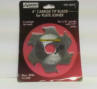 New Carbide Tip Blade 4 For Plate Joiner 58 Spindle 78 Arbor 12000 Rpm