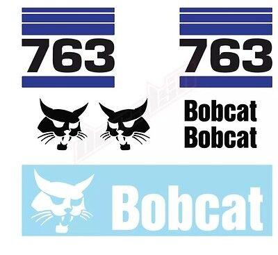 Bobcat 763 Skid Steer Set Vinyl Decal Sticker - Free Shipping