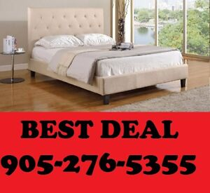 QUEEN OR DOUBLE SIZE UPHOLSTERED BED ONLY $299.00