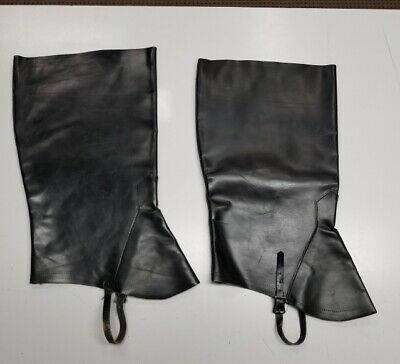 Men's black genuine leather boot tops pirate - Real Pirate Costumes