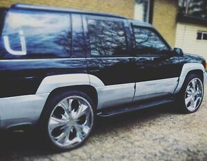 1999 Denali with 26 inch rims and system