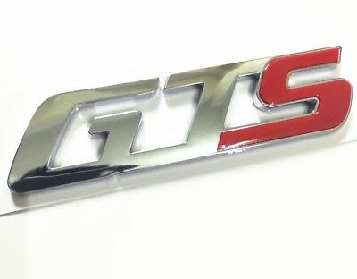 Chrome Red GTS Letter Rear Trunk Emblem Badge for Maserati Quattroporte Ghibli