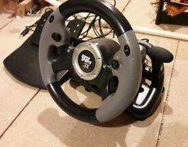 Steering wheel and pedals for xbox360 & ps3