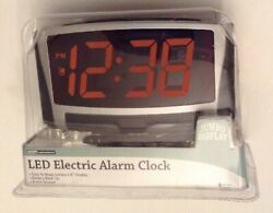 Living Solutions LED Electric Alarm Clock Jumbo Display 1.8 Easy To Read NEW